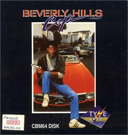 Box cover for Beverly Hills Cop on the Commodore 64.