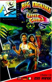 Box cover for Big Trouble in Little China on the Commodore 64.