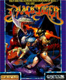 Box cover for Black Tiger on the Commodore 64.