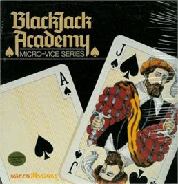 Box cover for Blackjack Academy on the Commodore 64.
