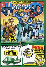 Box cover for Blagger Goes to Hollywood on the Commodore 64.