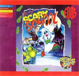 Box cover for Blinky's Scary School on the Commodore 64.