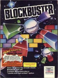 Box cover for Blockbuster on the Commodore 64.