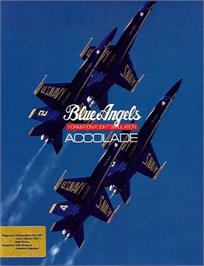 Box cover for Blue Angels: Formation Flight Simulation on the Commodore 64.