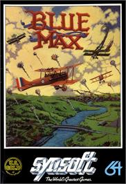 Box cover for Blue Max on the Commodore 64.