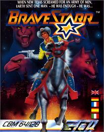 Box cover for BraveStarr on the Commodore 64.