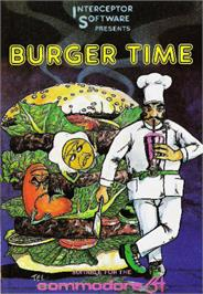 Box cover for BurgerTime on the Commodore 64.
