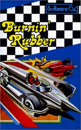 Box cover for Burnin Rubber on the Commodore 64.