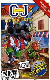 Box cover for CJ's Elephant Antics on the Commodore 64.