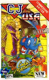 Box cover for CJ In the USA on the Commodore 64.