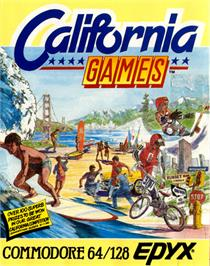 Box cover for California Games on the Commodore 64.