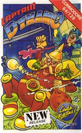 Box cover for Captain Dynamo on the Commodore 64.