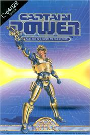 Box cover for Captain Power and the Soldiers of the Future on the Commodore 64.