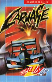 Box cover for Carnage on the Commodore 64.