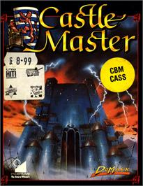 Box cover for Castle Master on the Commodore 64.