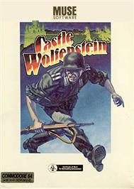 Box cover for Castle Wolfenstein on the Commodore 64.