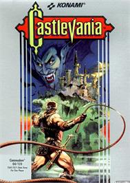 Box cover for Castlevania on the Commodore 64.