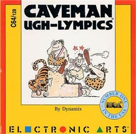 Box cover for Caveman Ugh-Lympics on the Commodore 64.