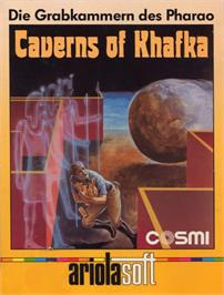 Box cover for Caverns of Khafka on the Commodore 64.