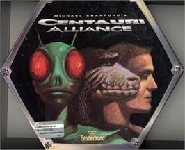 Box cover for Centauri Alliance on the Commodore 64.