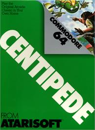 Box cover for Centipede on the Commodore 64.