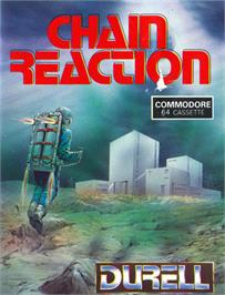 Box cover for Chain Reaction on the Commodore 64.