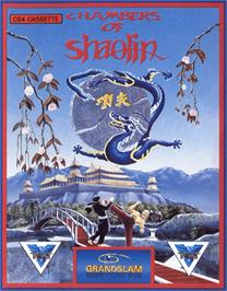 Box cover for Chambers of Shaolin on the Commodore 64.