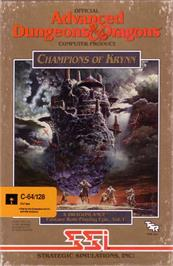 Box cover for Champions of Krynn on the Commodore 64.