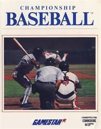 Box cover for Championship Baseball on the Commodore 64.