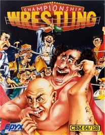 Box cover for Championship Wrestling on the Commodore 64.