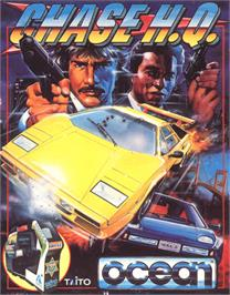Box cover for Chase H.Q. on the Commodore 64.