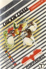 Box cover for Chickin Chase on the Commodore 64.
