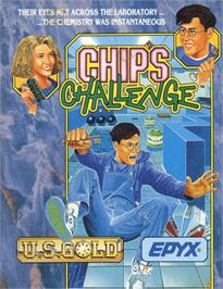 Box cover for Chip's Challenge on the Commodore 64.