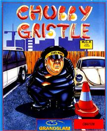 Box cover for Chubby Gristle on the Commodore 64.