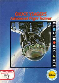 Box cover for Chuck Yeager's Advanced Flight Trainer on the Commodore 64.