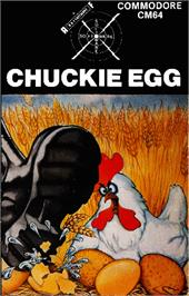 Box cover for Chuckie Egg on the Commodore 64.