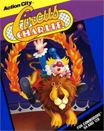 Box cover for Circus Charlie on the Commodore 64.