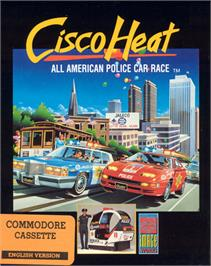 Box cover for Cisco Heat: All American Police Car Race on the Commodore 64.