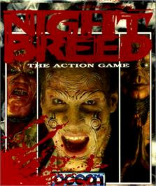Box cover for Clive Barker's Nightbreed: The Action Game on the Commodore 64.