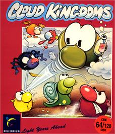 Box cover for Cloud Kingdoms on the Commodore 64.