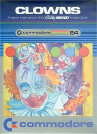 Box cover for Clowns on the Commodore 64.