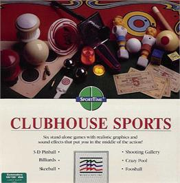 Box cover for Clubhouse Sports on the Commodore 64.