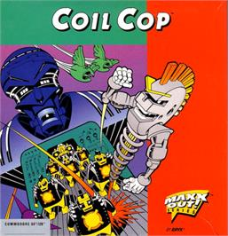 Box cover for Coil Cop on the Commodore 64.