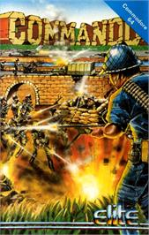 Box cover for Commando on the Commodore 64.