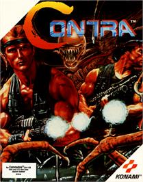 Box cover for Contra on the Commodore 64.