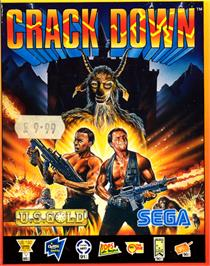 Box cover for Crack Down on the Commodore 64.