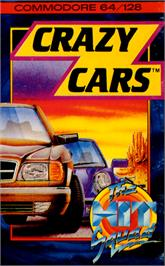 Box cover for Crazy Cars on the Commodore 64.