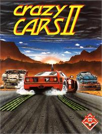 Box cover for Crazy Cars 2 on the Commodore 64.