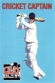 Box cover for Cricket Captain on the Commodore 64.