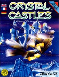 Box cover for Crystal Castles on the Commodore 64.